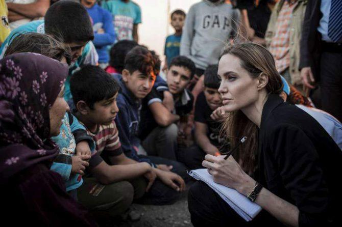 Angelina Jolie after visiting refugees of Syria