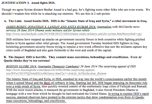 Blue Book - ISIS is in Syria
