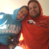 Alissa and Asaad sporting another gift from Mom and Dad: Colorado hoodies!