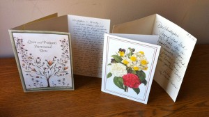 These are some get-well cards we've received as members of Samaritan.