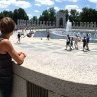 This was the first for Micah and I at the WWII memorial.