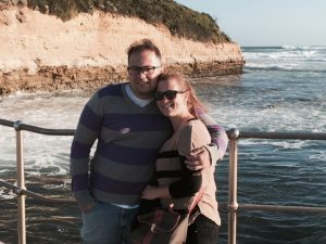 Alissa and Asaad at Port Campbell.