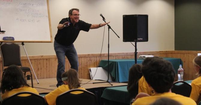 Comedia Ken Davis was keynote in 2011.