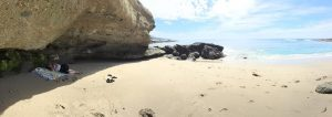 See Wendy under the rock? We got to relax in Laguna Hills before flying 15 hours to Melbourne.