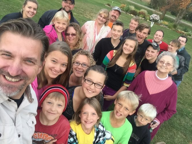 Another crazy family selfie. I really need to get a selfie stick.