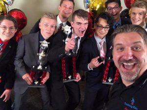 Selfie with the winners of Lincoln-Douglas debate!