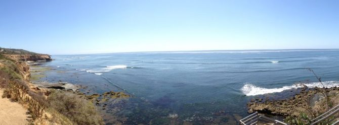 We're now on the shore of the Pacific Ocean, Point Loma Nazarene University.