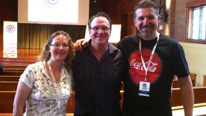Wendy and I pictured with cofounder of the Platform Conference, Ken Davis.